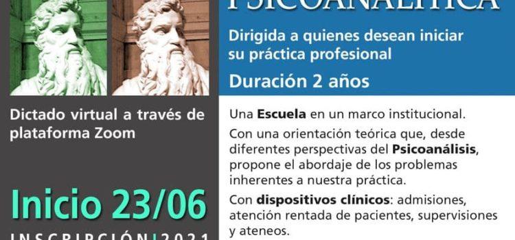 Escuela de Clínica Psicoanalítica – Inscripción junio 2021